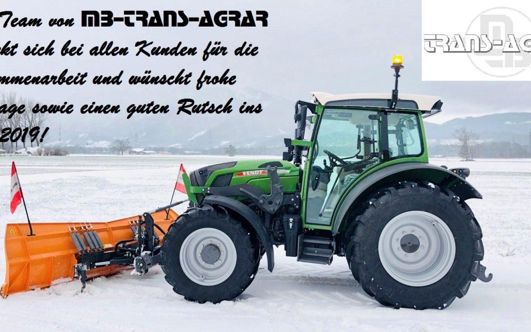 MB-TRANS-AGRAR wünscht Frohe Festtage!